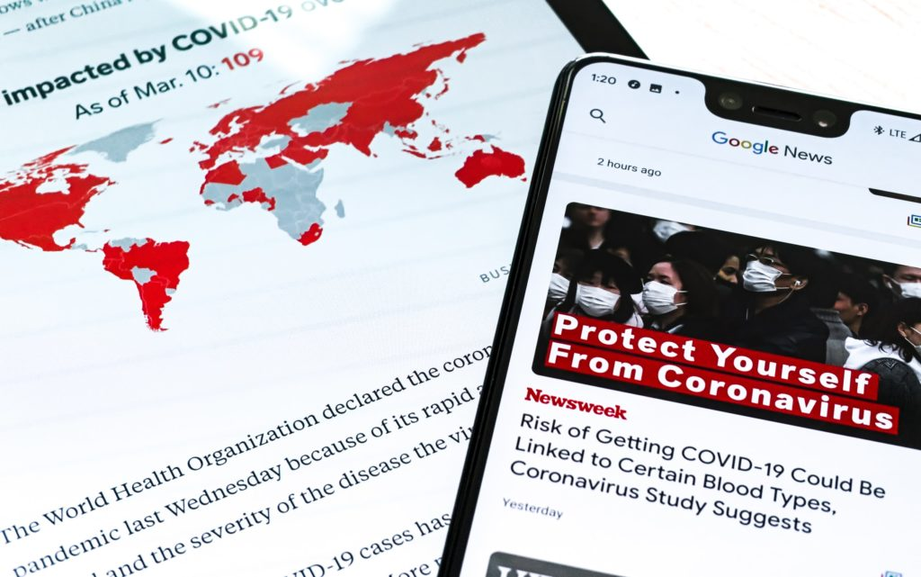covid19 publicité média